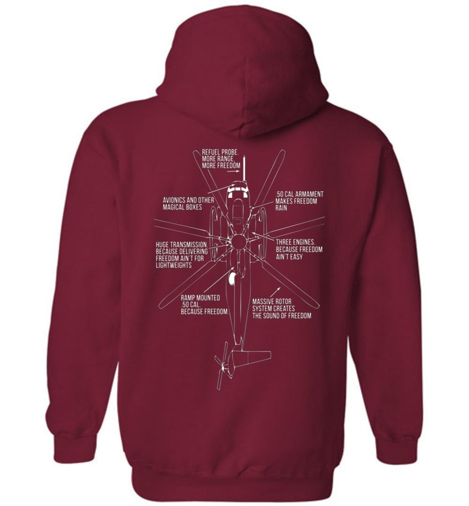 T-shirt - Awesome CH-53E Freedom Hoodie!