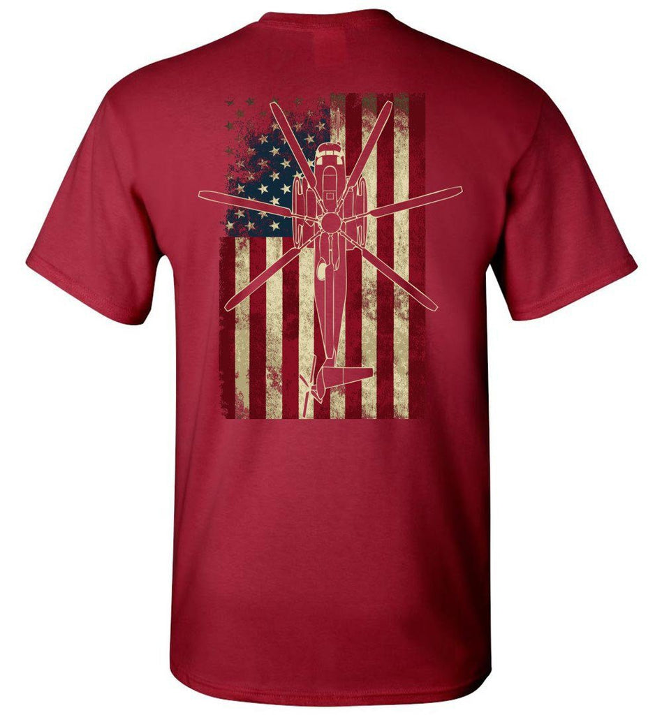 T-shirt - Awesome CH-53E Vintage Flag Shirt