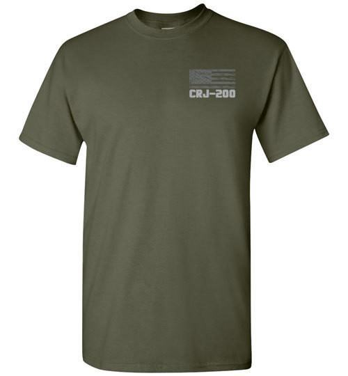 T-shirt - Awesome CRJ-200 US Flag Shirt!