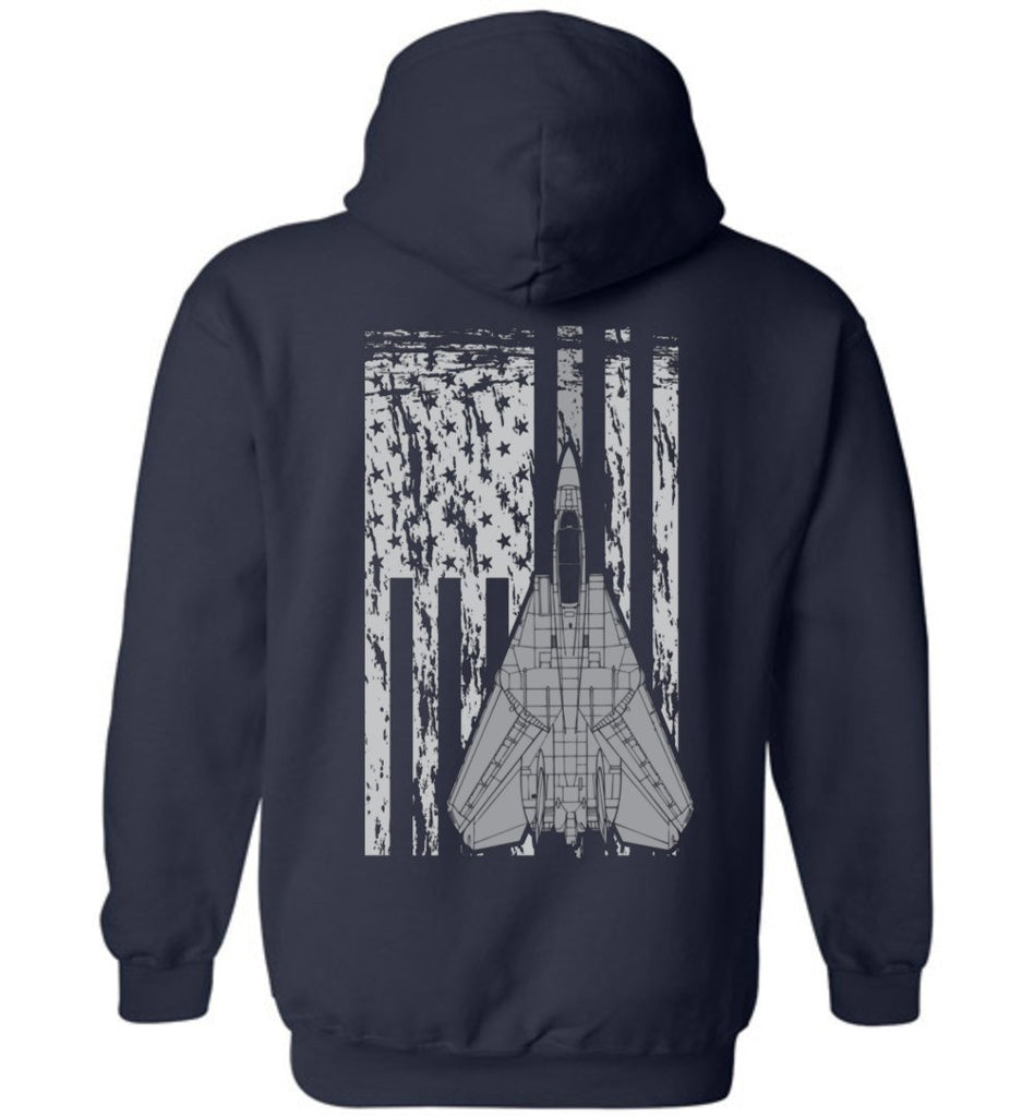 T-shirt - Awesome F-14 Flag Tomcat Hoodie