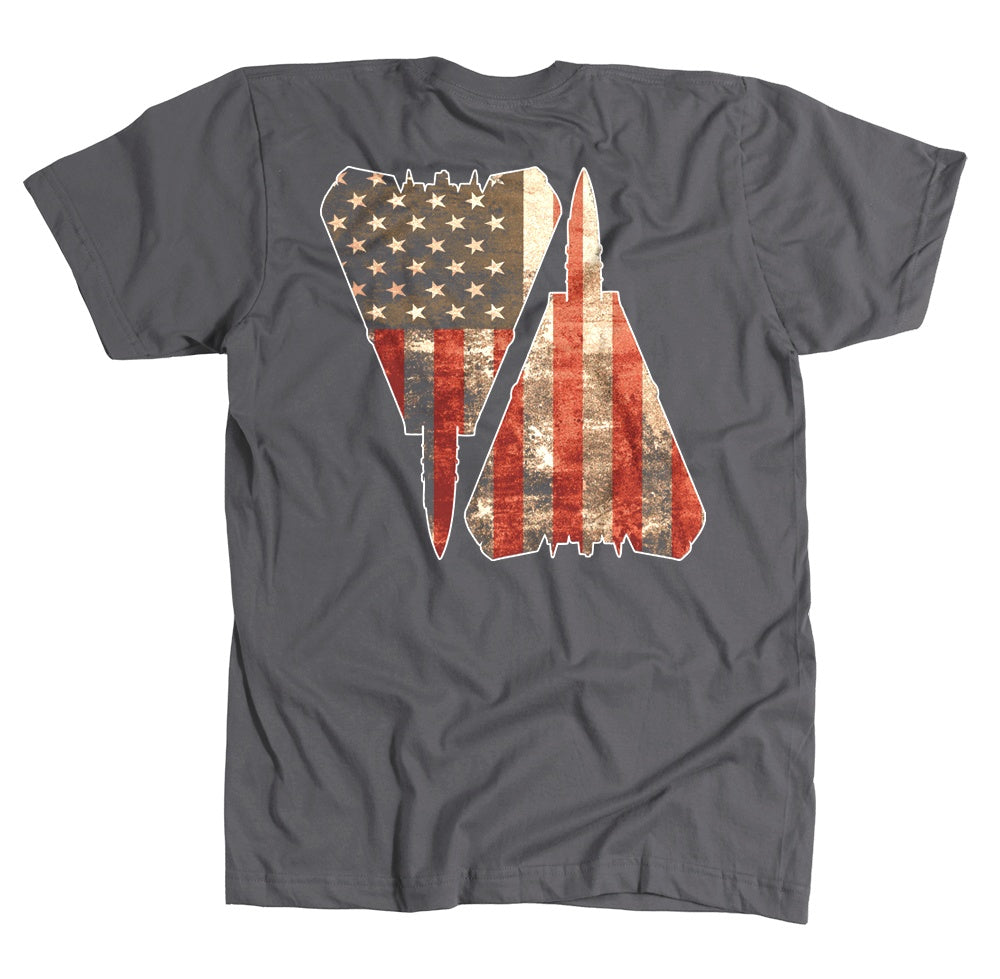 T-shirt - Awesome F-14 Full Color US Flag