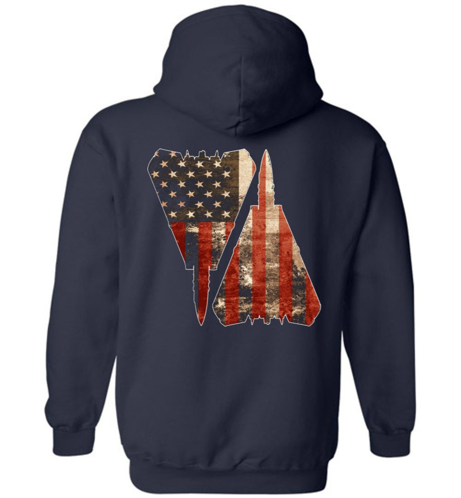 T-shirt - Awesome F-14 Full Color US Flag Hoodie