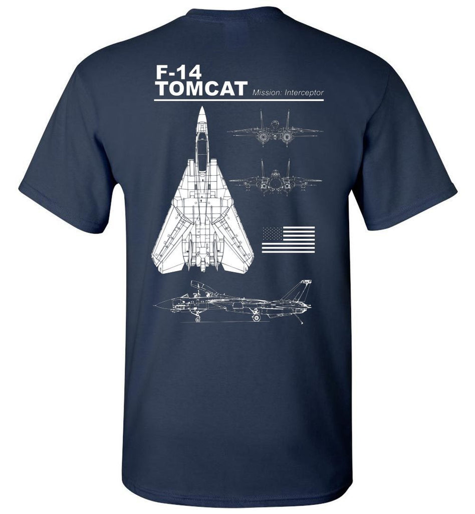 T-shirt - Awesome F-14 Tomcat Label Shirt