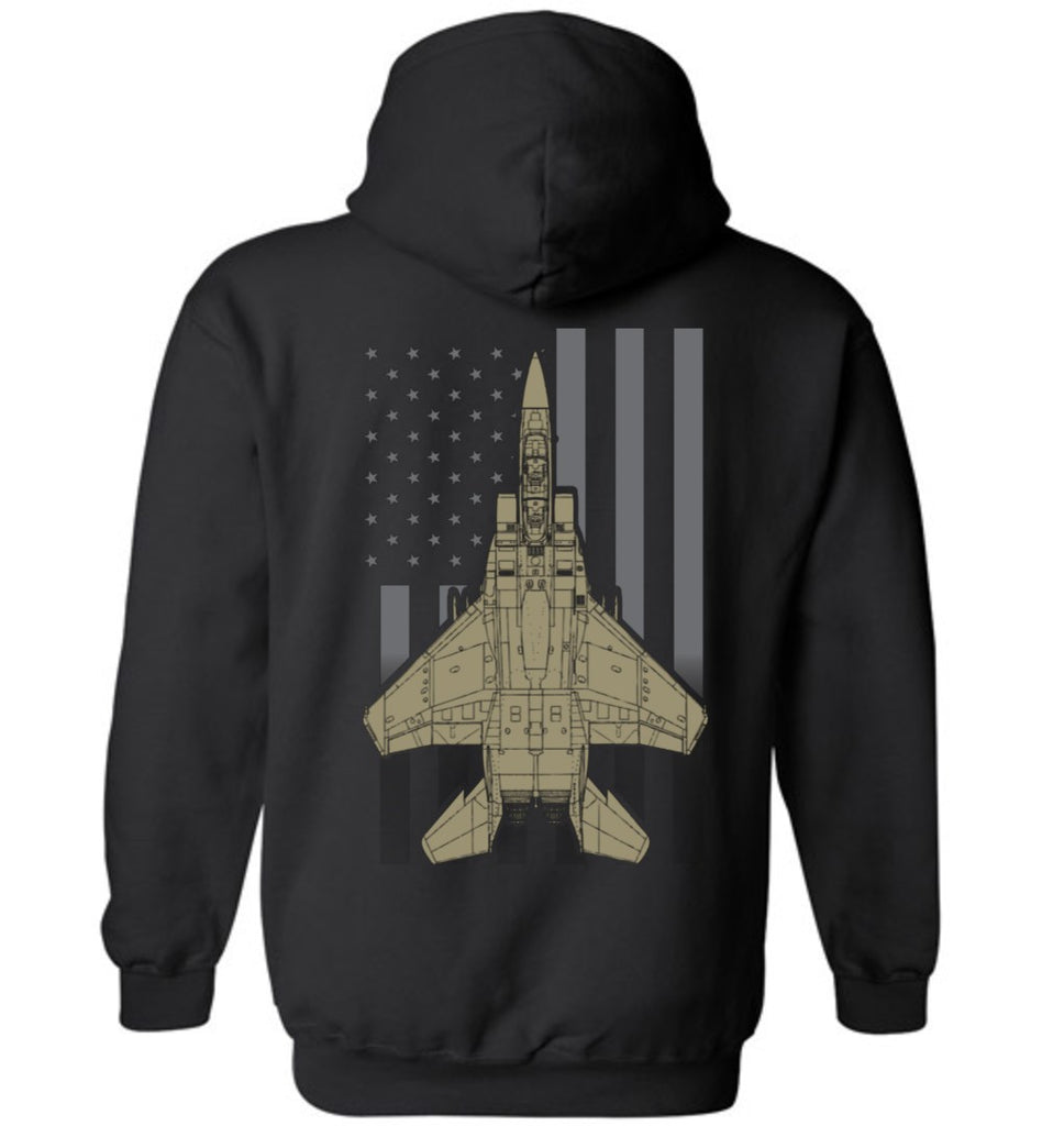 T-shirt - Awesome F-15 Subdued Flag Hoodie