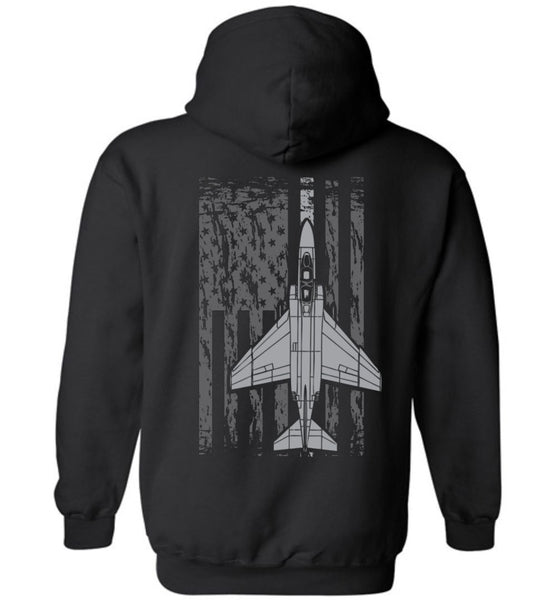 T-shirt - Awesome F-4 Phantom Flag Hoodie!