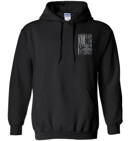 T-shirt - Awesome F/A-18 Flag Hoodie