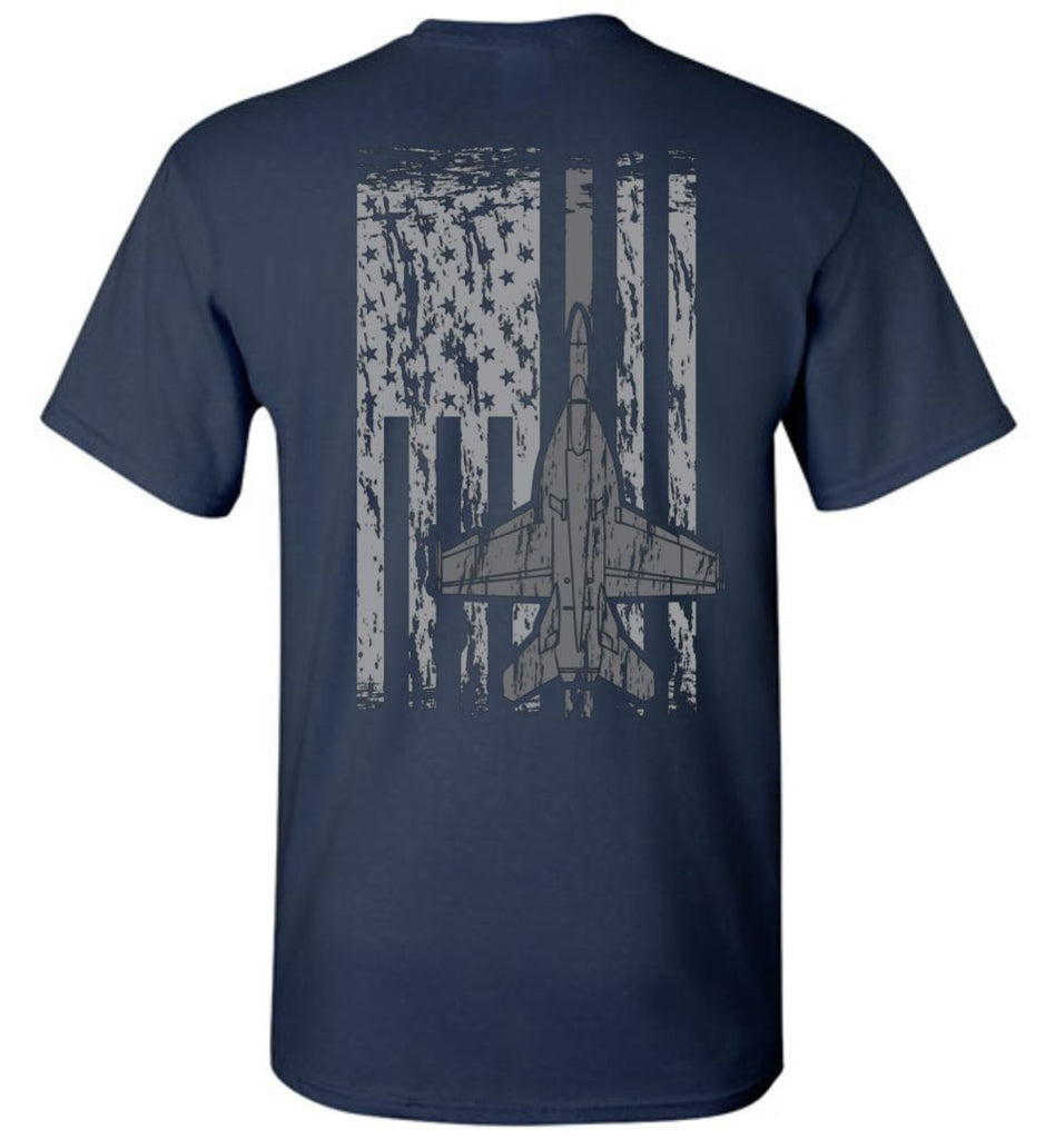 T-shirt - Awesome F/A-18 Flag Shirt