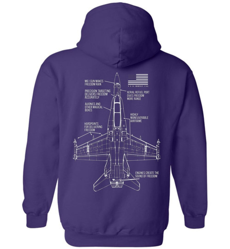 T-shirt - Awesome F/A-18 Freedom Hoodie!