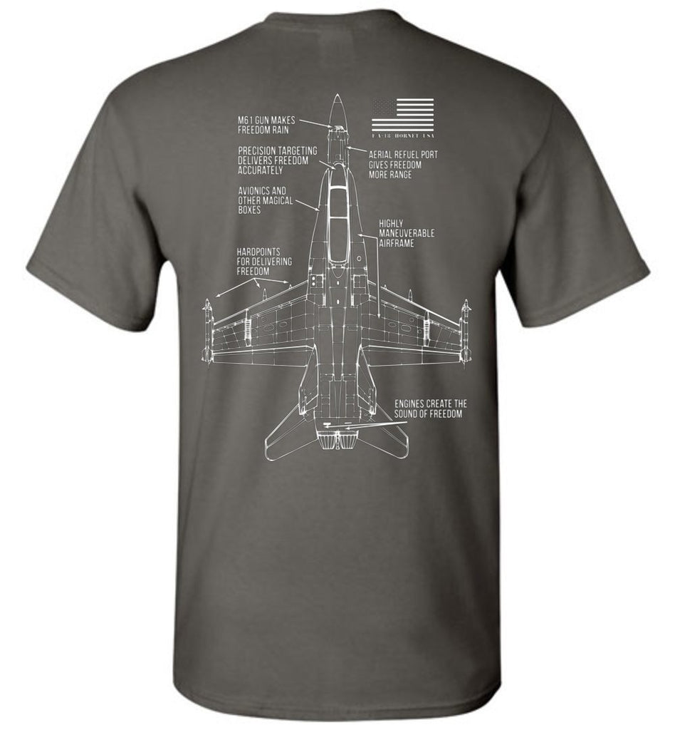 T-shirt - Awesome F/A-18 Freedom Shirt!