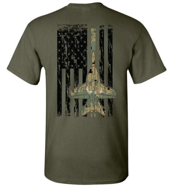 T-shirt - Awesome F/A-18 MARPAT Flag Shirt