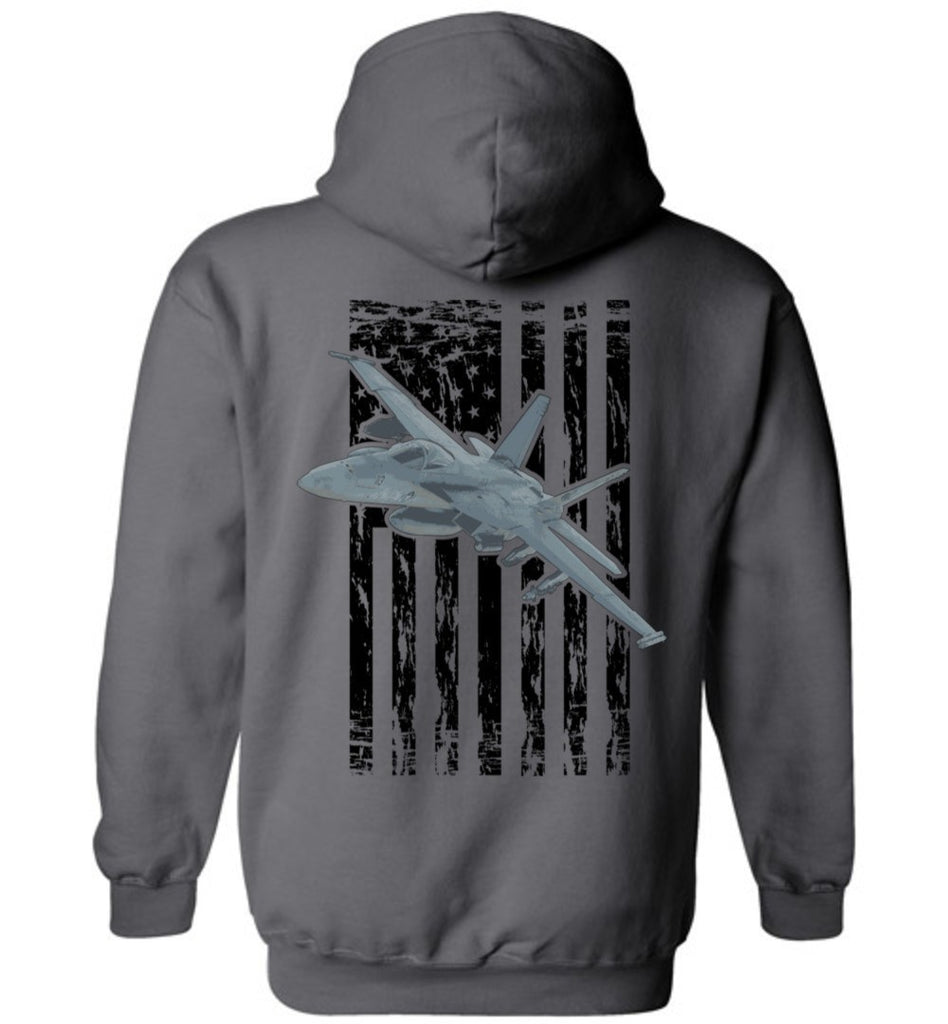 T-shirt - Awesome F/A-18 Super Hornet Flag Hoodie