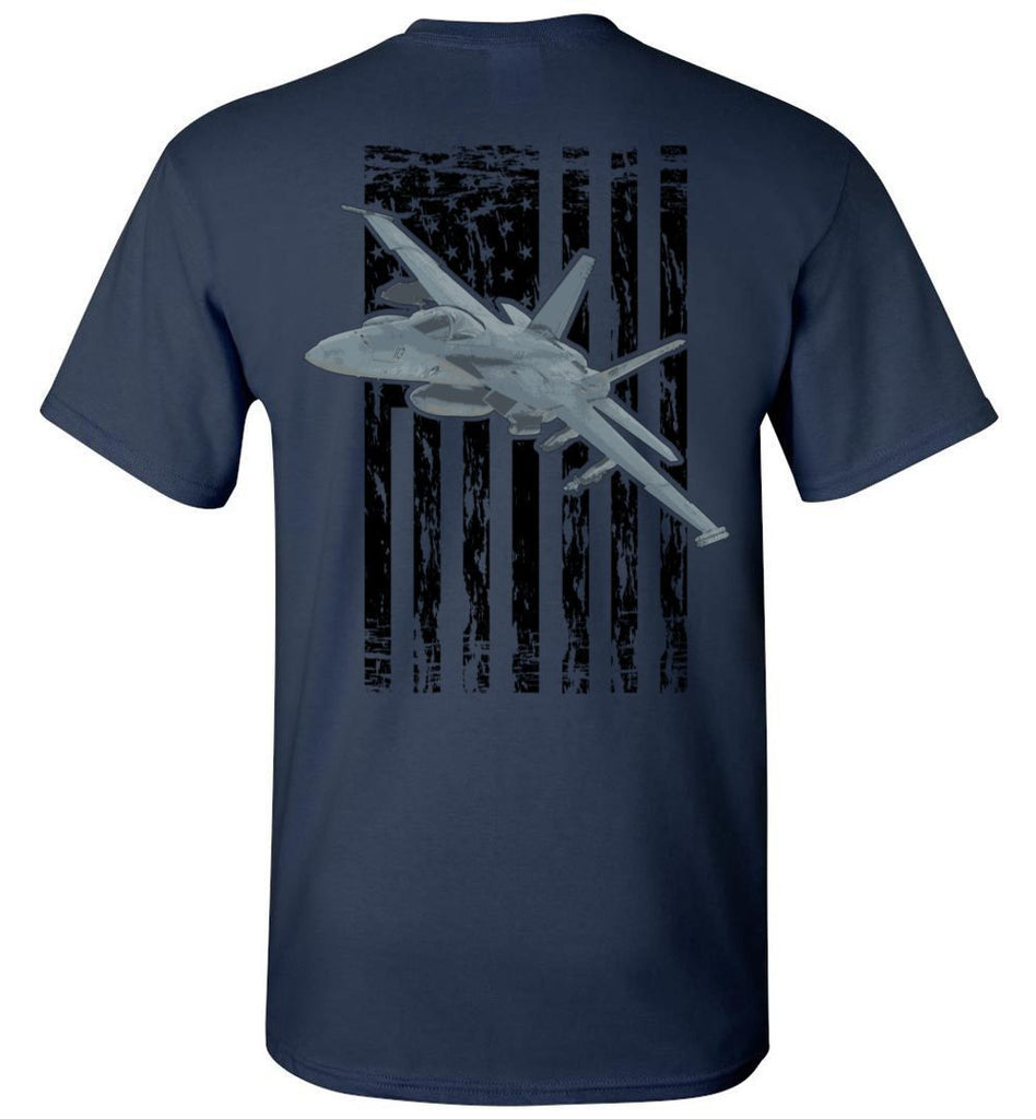 T-shirt - Awesome F/A-18 Super Hornet Flag Shirt