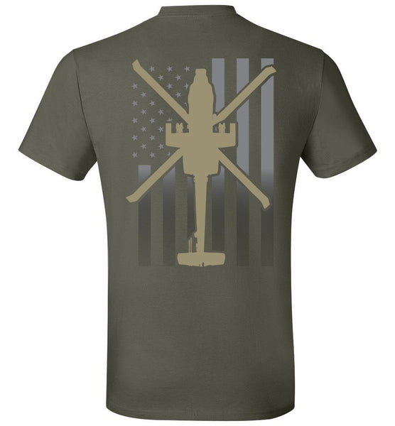 T-shirt - Awesome Faded Flag AH-64 Shirt