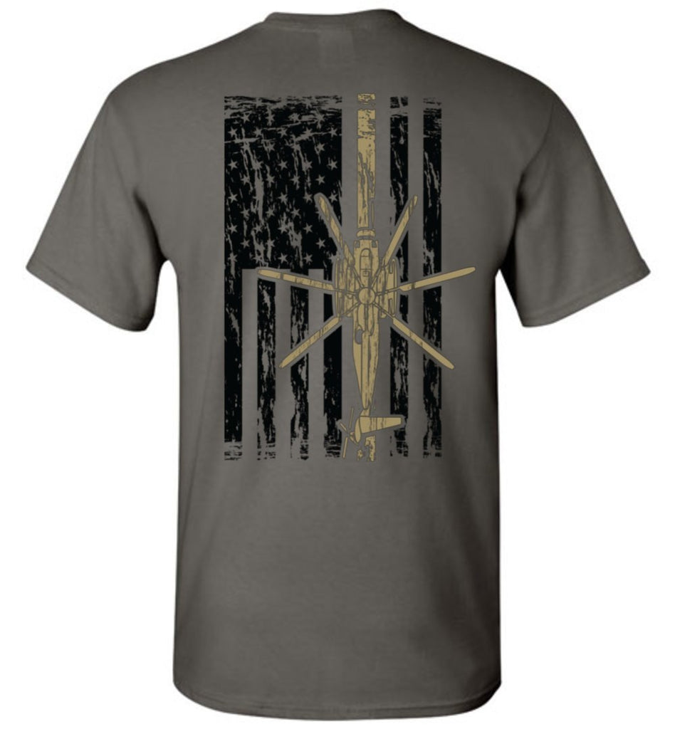 T-shirt - Awesome HMH-462 Heavy Haulers CH-43E Flag Shirt!