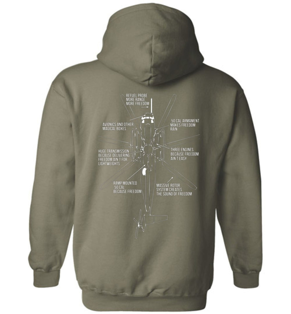 T-shirt - Awesome HMH-466 CH-53 Freedom Hoodie!