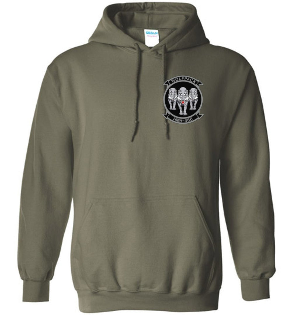 T-shirt - Awesome HMH-466 Wolfpack CH-53E Flag Hoodie!