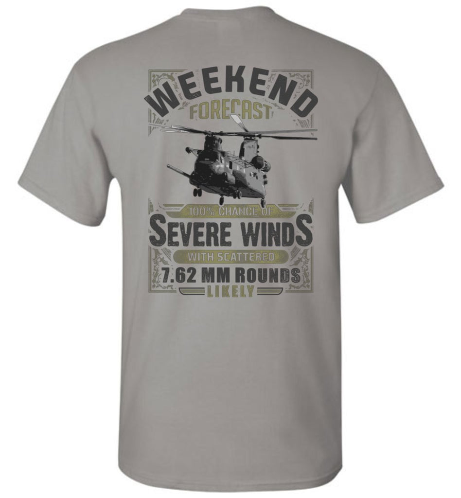 T-shirt - Awesome MH-47 Weekend Forecast Shirt!