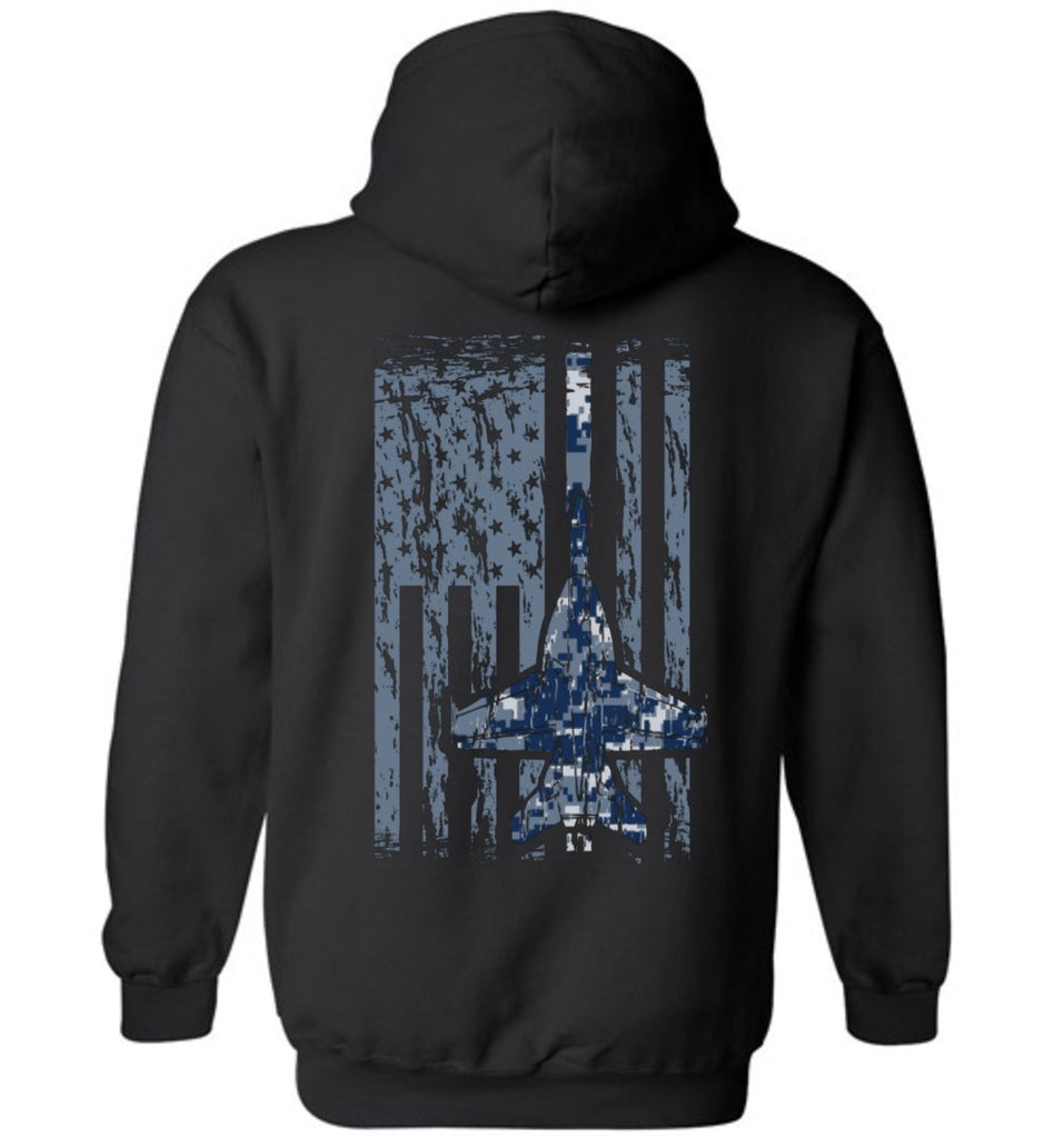 T-shirt - Awesome Navy F/A-18 Flag Hoodie