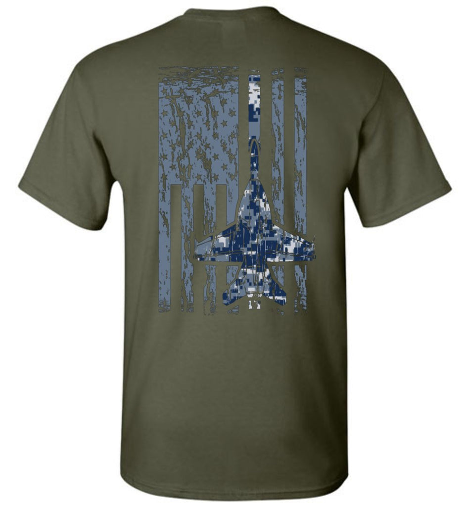 T-shirt - Awesome Navy F/A-18 Flag Shirt