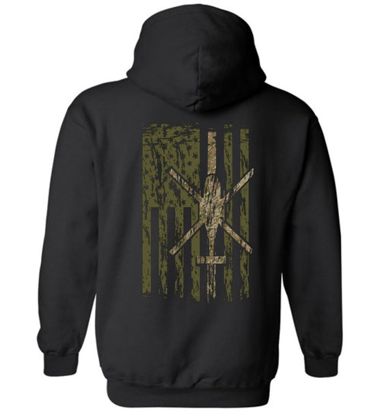 T-shirt - Awesome OH-58D Multicam Flag Hoodie!