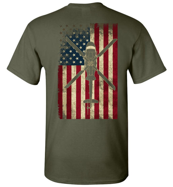 T-shirt - Awesome UH-1Y Flag Shirt