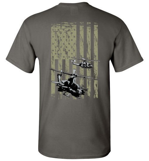 T-shirt - Awesome UH-1Z And AH-1Y Mechanic Flag Shirt!