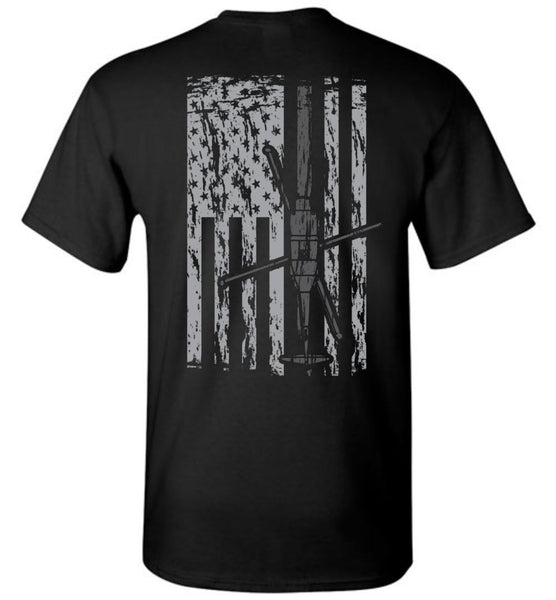 T-shirt - Awesome UH-60 Black Hawk Flag Shirt!