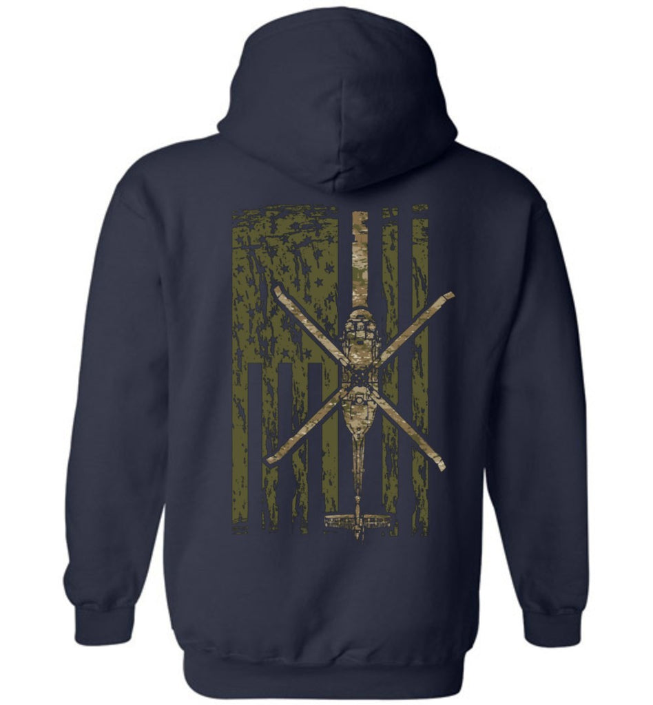 T-shirt - Awesome UH-60 Black Hawk Multicam Flag  Hoodie!