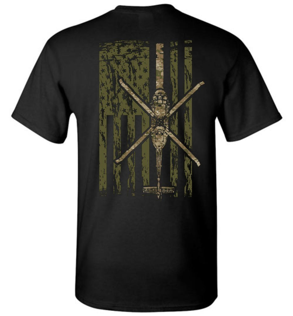 T-shirt - Awesome UH-60 Black Hawk Multicam Flag Shirt!