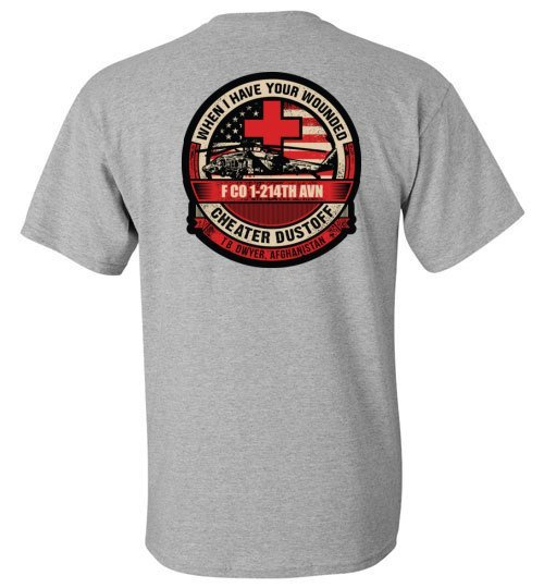 T-shirt - Awesome UH-60 Dustoff Tan Shirt!