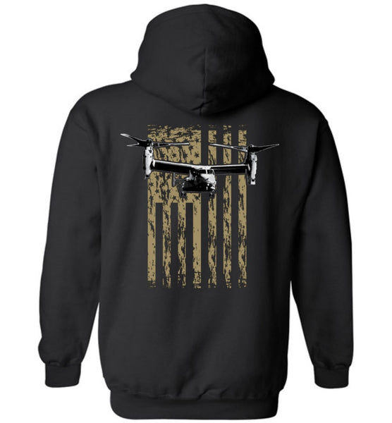 T-shirt - Awesome V-22 Flag Hoodie!