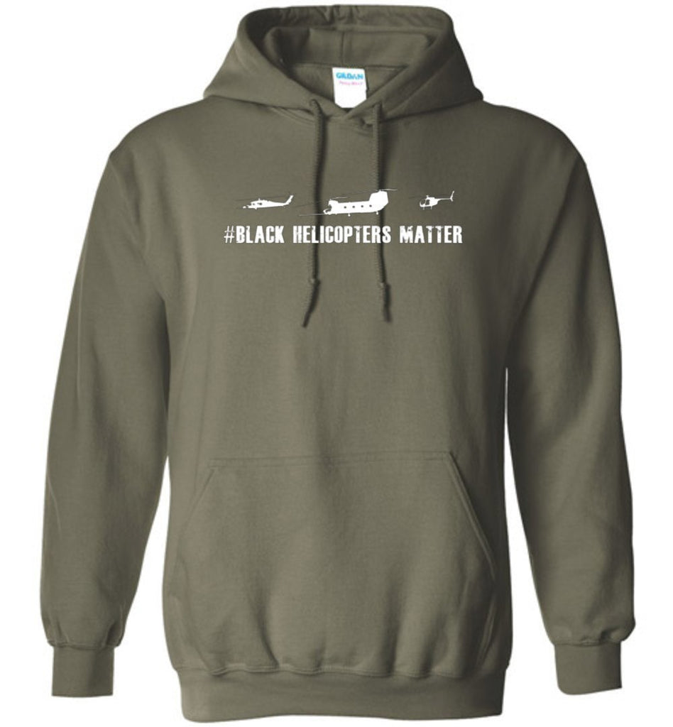 T-shirt - Black Helicopter Matters 160th Hoodie
