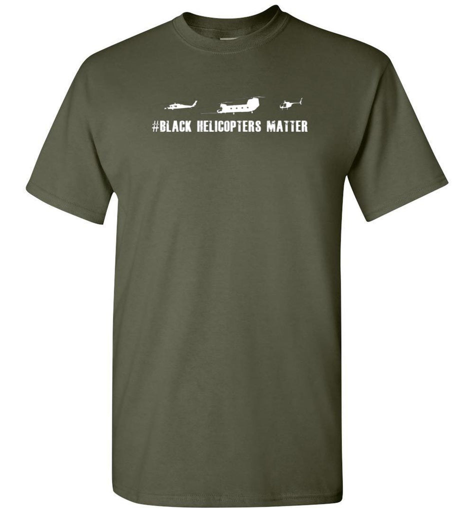 T-shirt - Black Helicopter Matters 160th Shirt
