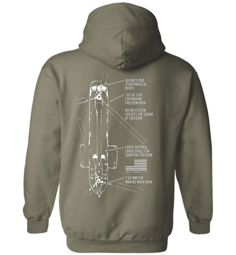 T-shirt - CH-46 Brings The Freedom Hoodie