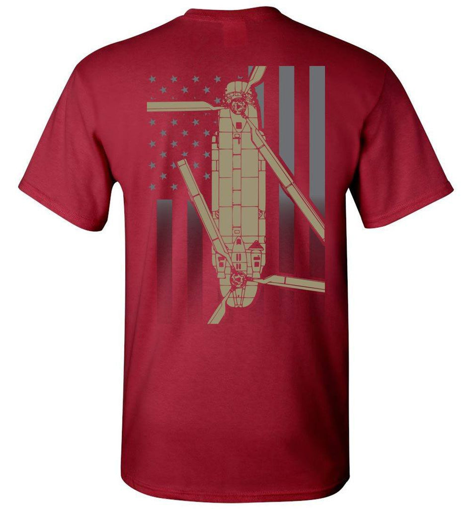 T-shirt - CH-47 Chinook Subdued Flag
