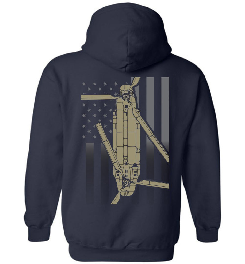 T-shirt - CH-47 Chinook Subdued Flag Hoodie