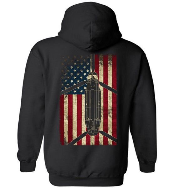 T-shirt - CH-47 Display Flag Hoodie