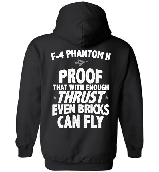 T-shirt - F-4 Phantom Bricks Can Fly Hoodie