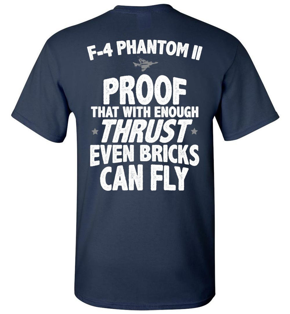 T-shirt - F-4 Phantom Bricks Can Fly Shirt