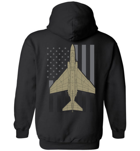 T-shirt - F-4 Phantom II Subdued Flag Hoodie