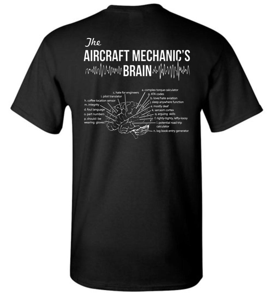 T-shirt - Funny Aircraft Mechanic's Brain Shirt!