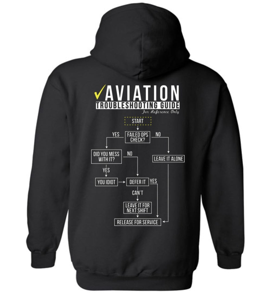 T-shirt - Funny Aviation Troubleshooting Hoodie!