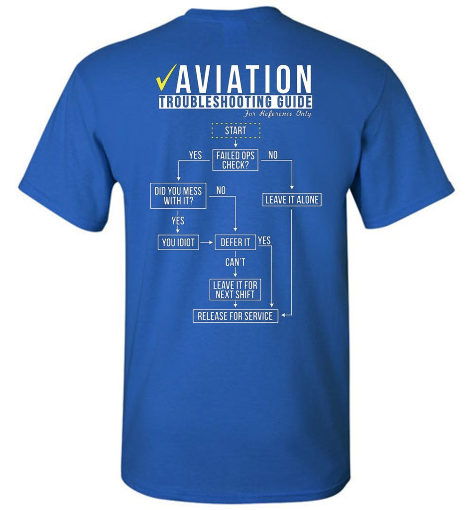 T-shirt - Funny Aviation Troubleshooting Shirt!