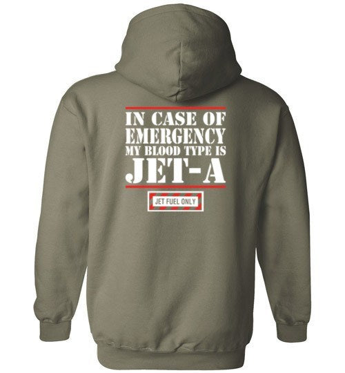 T-shirt - In Case Of Emergency, Blood Type Is Jet A Hoodie