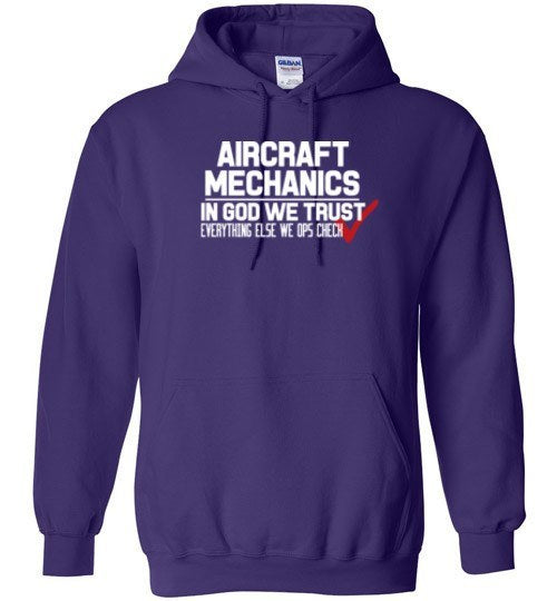 T-shirt - In Got We Trust, Everything Else We Ops Check Hoodie