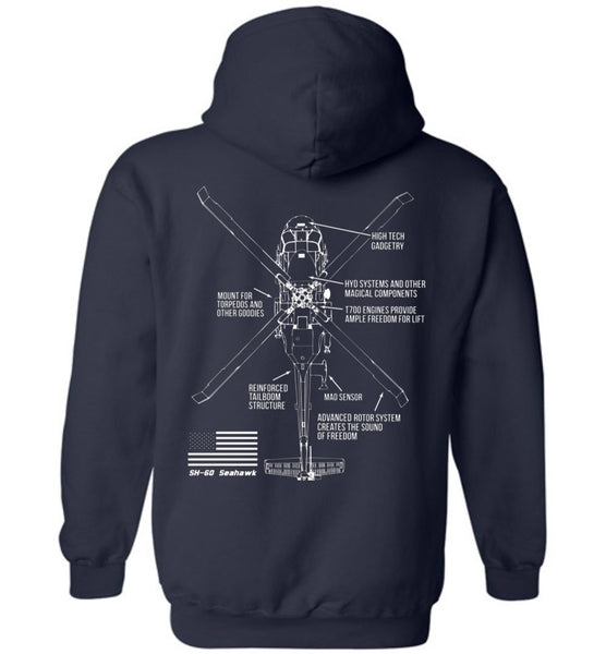 T-shirt - SH-60 Seahawk Brings The Freedom Hoodie