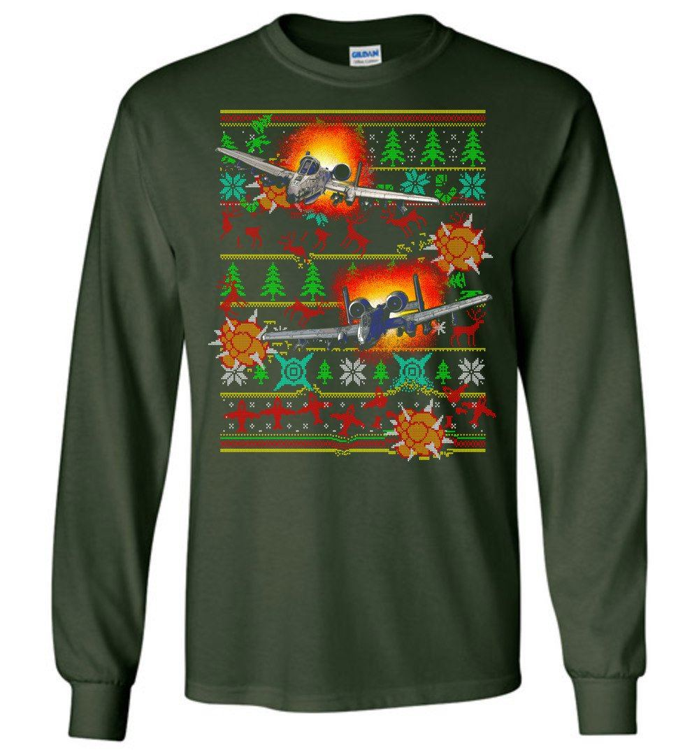 Ugly A-10 Warthog Christmas Shirt - Aircraft Mechanic Shirts.com