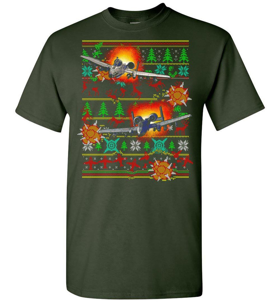 T-shirt - Ugly A-10 Warthog Christmas Shirt