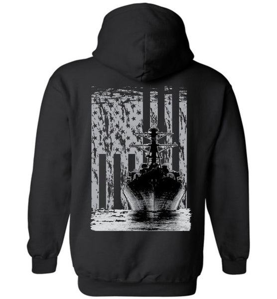 T-shirt - US Navy Destroyer Flag Hoodie