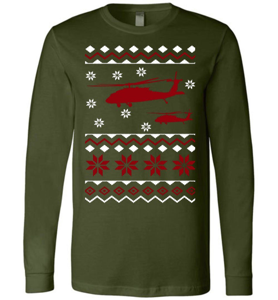 Unique UH-60 Ugly Sweater Long Sleeve Shirt